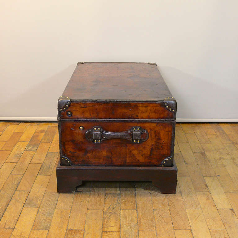 Louis Vuitton Leather Cabin Trunk, circa 1895 In Good Condition For Sale In London, GB