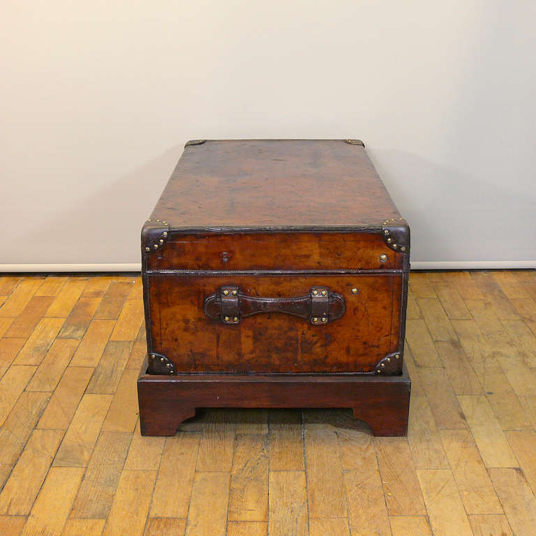 Late 19th Century Louis Vuitton Leather Cabin Trunk, circa 1895 For Sale