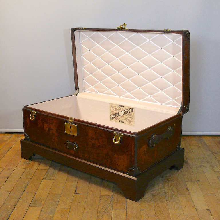 Louis Vuitton Leather Cabin Trunk, circa 1895 For Sale 1