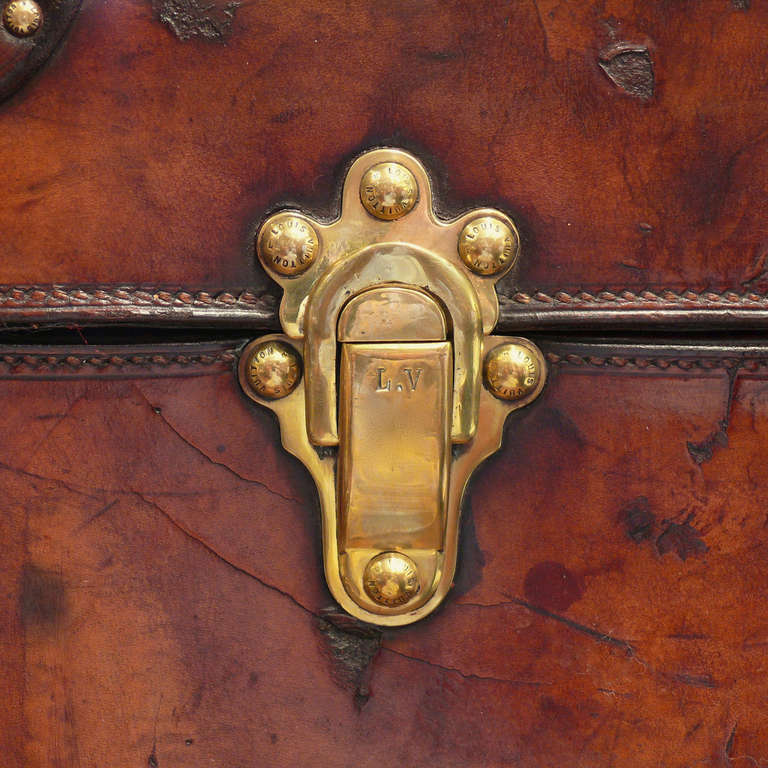 Louis Vuitton Leather Cabin Trunk, circa 1895 For Sale 3