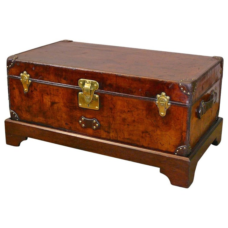Louis Vuitton Leather Cabin Trunk, circa 1895 For Sale