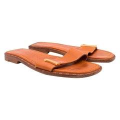 Louis Vuitton Leather Tan Sandals - Size EU 36.5
