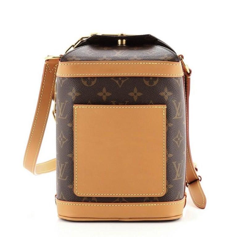 Brown Louis Vuitton Legacy Milk Box Bag Monogram Canvas