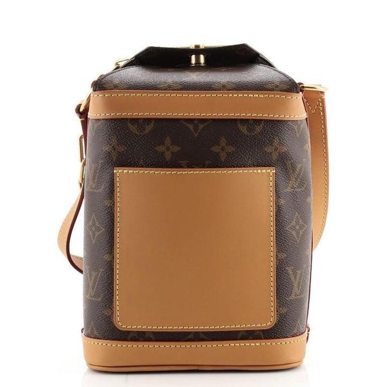 Brown Louis Vuitton Legacy Milk Box Bag Monogram Canvas For Sale