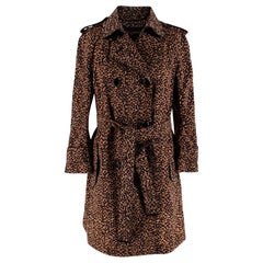 Louis Vuitton Leopard Print Trench Coat - Size US 2