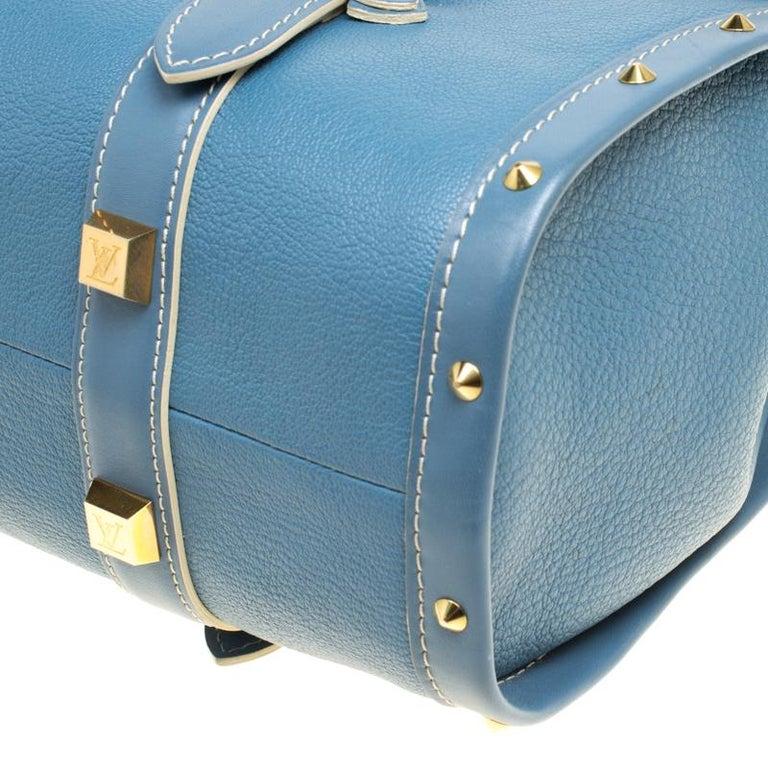 Louis Vuitton Light Blue Suhali Leather L'Epanoui GM bag For Sale 6