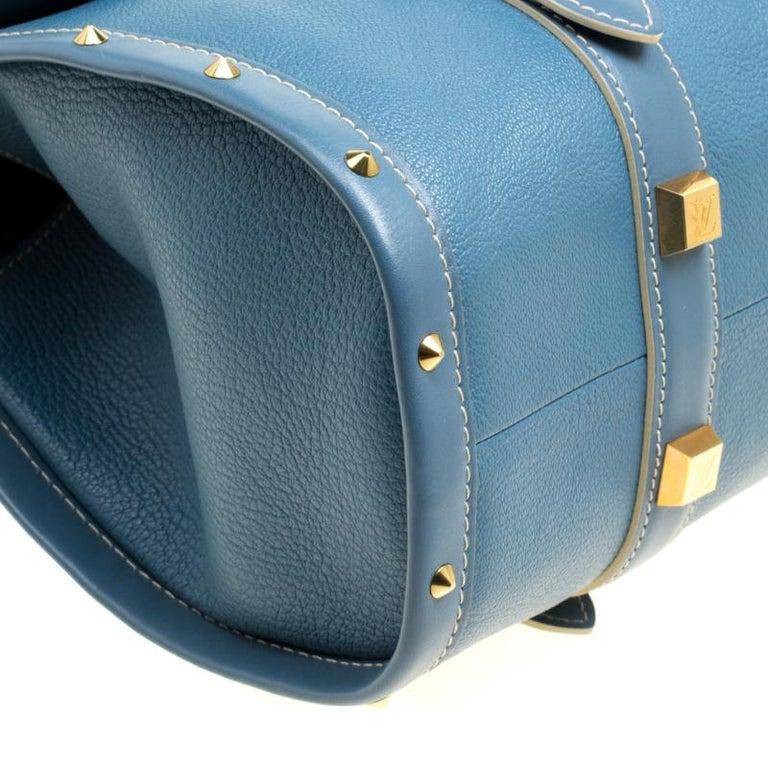 Louis Vuitton Light Blue Suhali Leather L'Epanoui GM bag For Sale 7