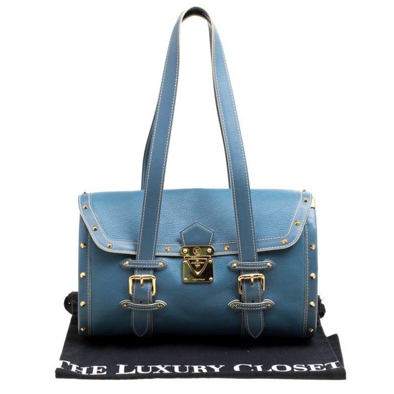 Louis Vuitton Light Blue Suhali Leather L'Epanoui GM bag For Sale 8
