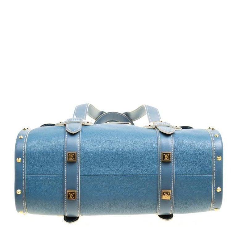 Women's Louis Vuitton Light Blue Suhali Leather L'Epanoui GM bag For Sale