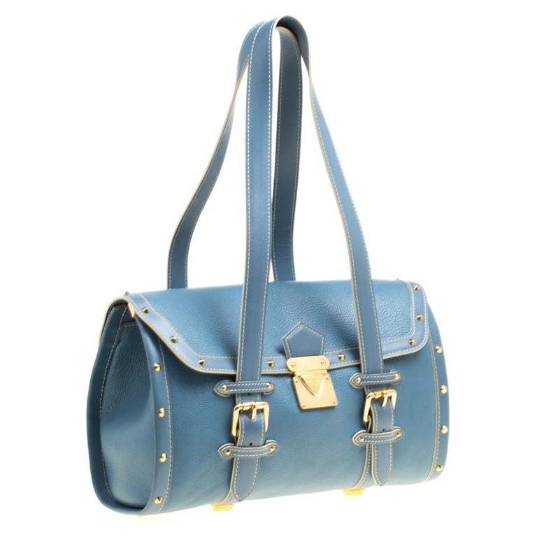 Louis Vuitton Light Blue Suhali Leather L'Epanoui GM bag For Sale 1