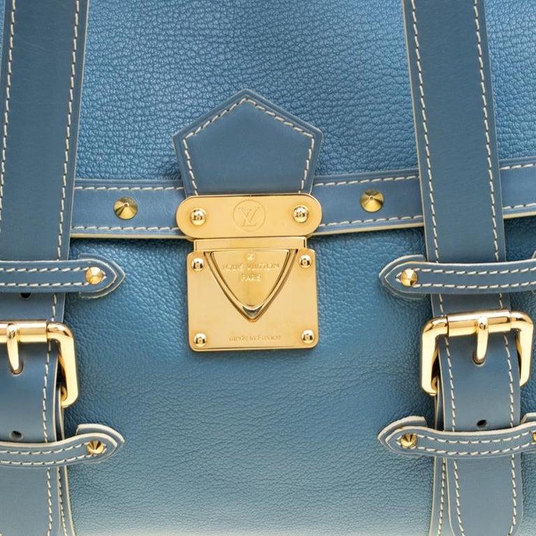 Louis Vuitton Light Blue Suhali Leather L'Epanoui GM bag For Sale 2
