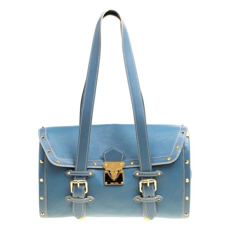 Louis Vuitton Light Blue Suhali Leather L'Epanoui GM bag For Sale