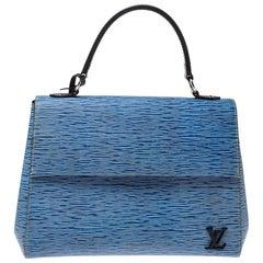 Louis Vuitton Light Denim Epi Leather Cluny MM Bag