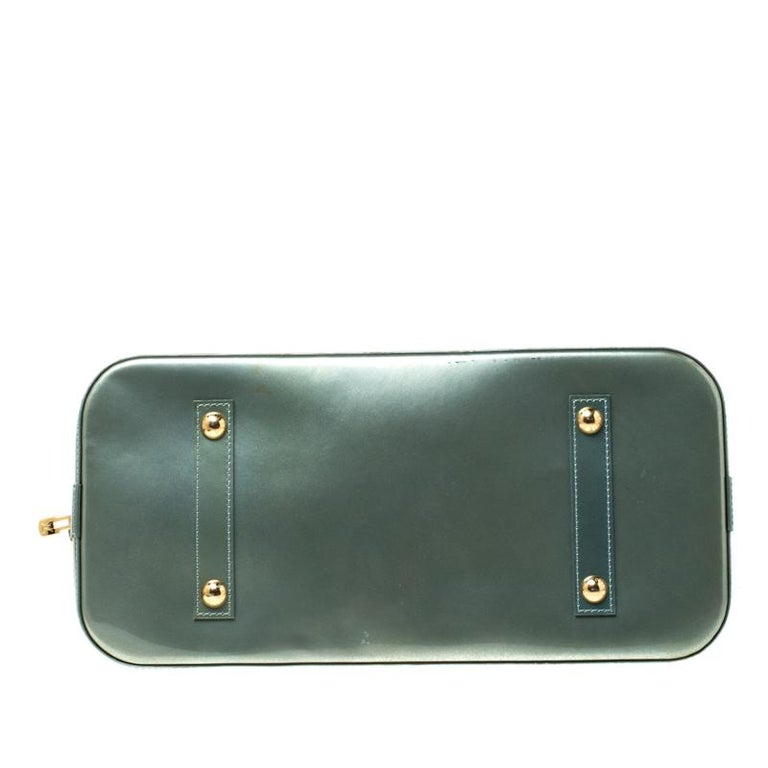 Louis Vuitton Light Green Monogram Vernis Alma GM Bag 5