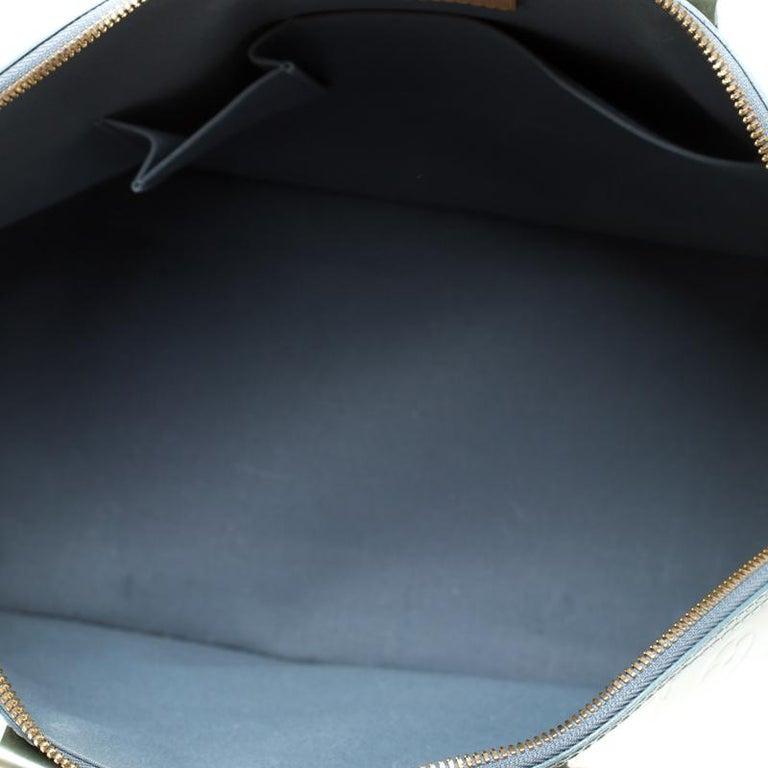 Women's Louis Vuitton Light Green Monogram Vernis Alma GM Bag