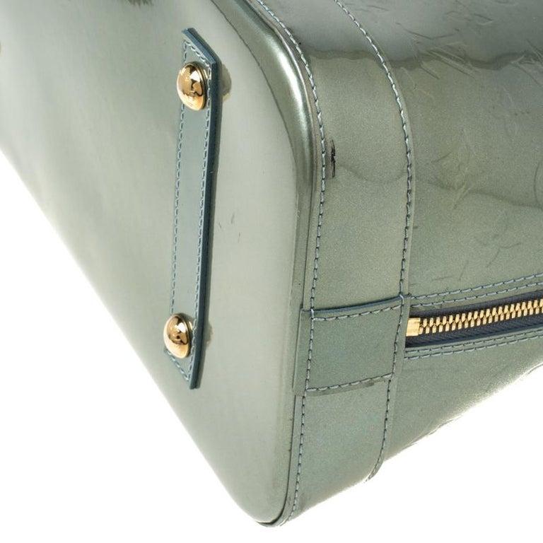Louis Vuitton Light Green Monogram Vernis Alma GM Bag 3