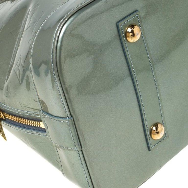Louis Vuitton Light Green Monogram Vernis Alma GM Bag 4