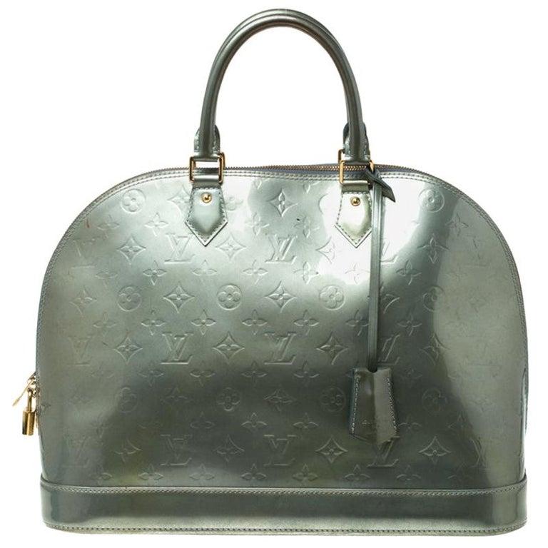 Louis Vuitton Light Green Monogram Vernis Alma GM Bag