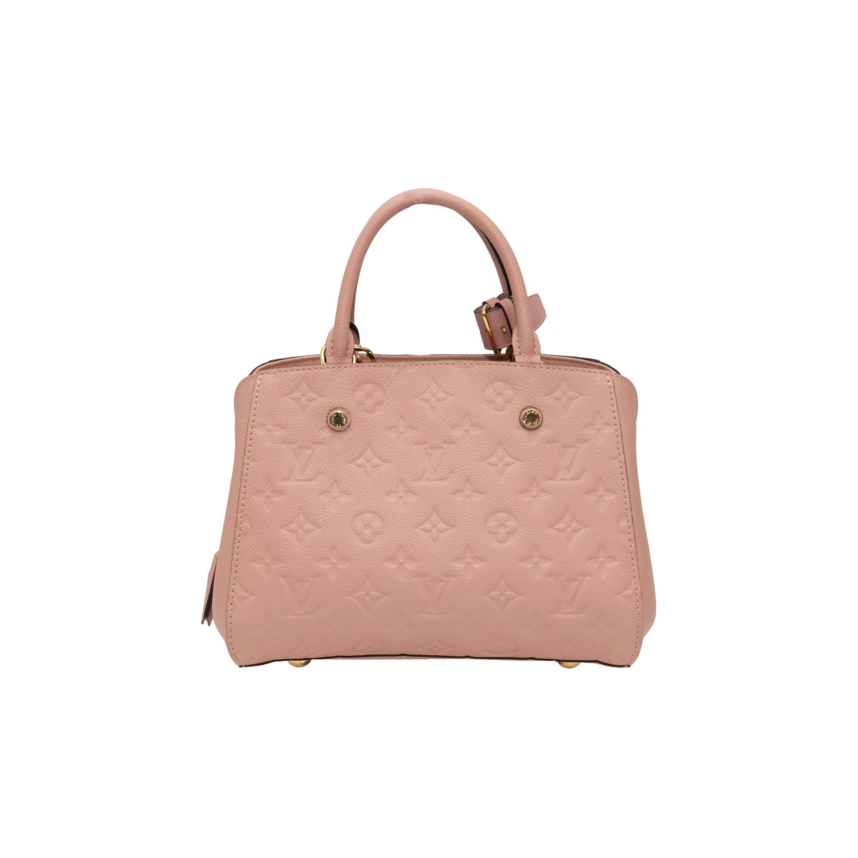 Louis Vuitton Light Pink Monogram Leather Empreinte Montaigne PM Bag
