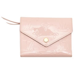 Louis Vuitton Light Pink Vernis Leather Victorine Wallet