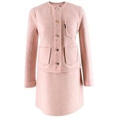 Louis Vuitton Light Pink Wool blend Skirt Suit - Size US 4