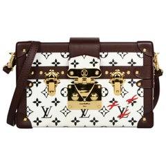Louis Vuitton Limited Edition Black/White Monogram Petite Malle Trunk Crossbody