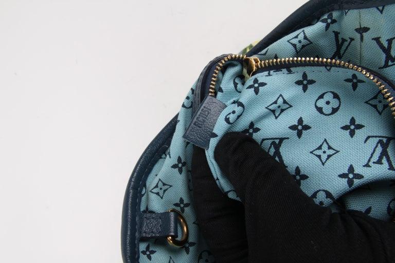 Louis Vuitton Limited Edition Blue Canvas Escale Ailleurs Cabas PM Beach  For Sale 6