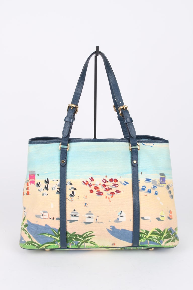 Louis Vuitton Limited Edition Blue Canvas Escale Ailleurs Cabas PM Beach  In Good Condition For Sale In Baarn, NL