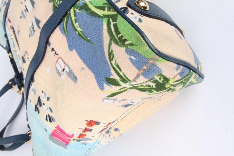 Louis Vuitton Limited Edition Blue Canvas Escale Ailleurs Cabas PM Beach  For Sale 1