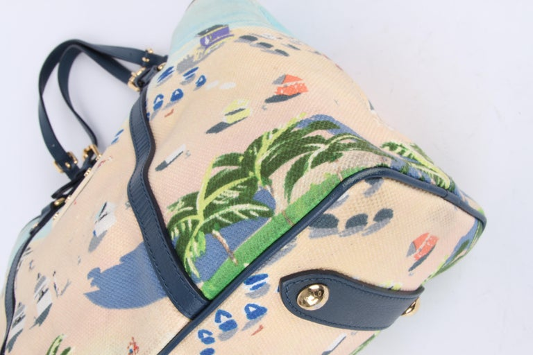 Louis Vuitton Limited Edition Blue Canvas Escale Ailleurs Cabas PM Beach  For Sale 2