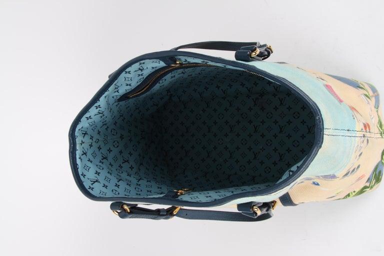 Louis Vuitton Limited Edition Blue Canvas Escale Ailleurs Cabas PM Beach  For Sale 3