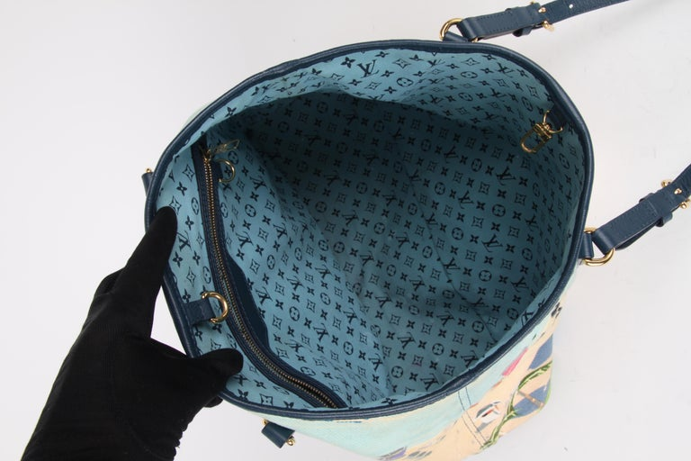 Louis Vuitton Limited Edition Blue Canvas Escale Ailleurs Cabas PM Beach  For Sale 4