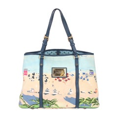 Louis Vuitton Limited Edition Blue Canvas Escale Ailleurs Cabas PM Beach