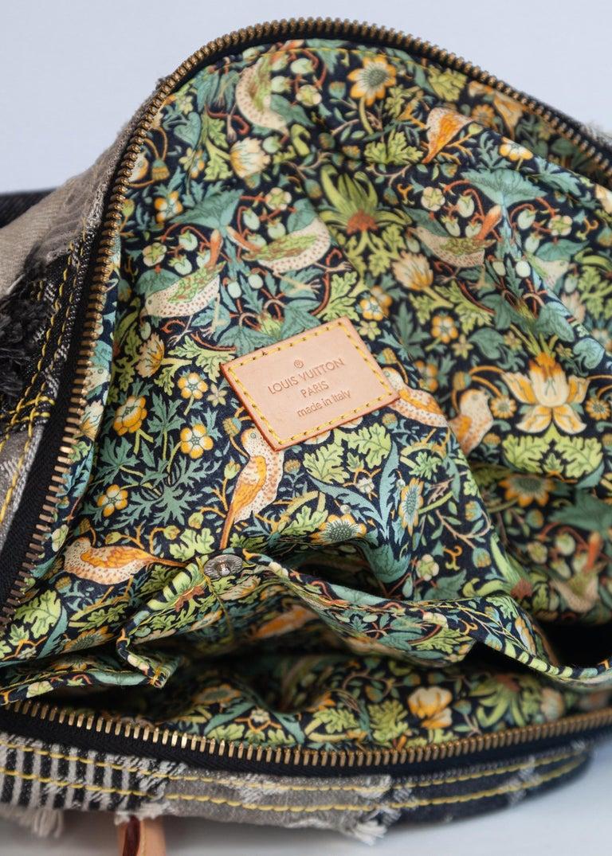 Louis Vuitton Limited Edition Blue Denim Monogram Denim Patchwork Bowly Bag For Sale 1