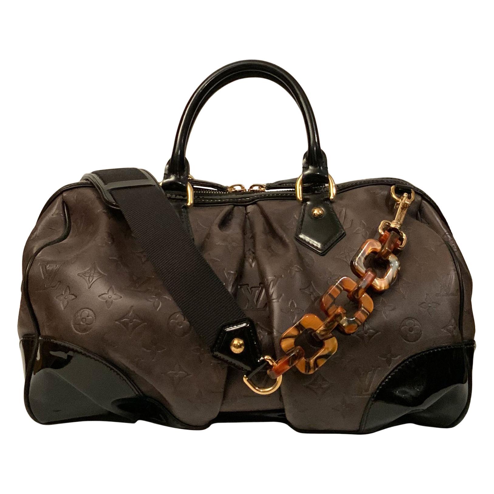 Louis Vuitton Limited Edition Brown Embossed Calfskin Monogram Stephen Bag