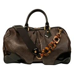 Louis Vuitton Limited Edition Brown Embossed Calfskin Monogram Stephen Bag