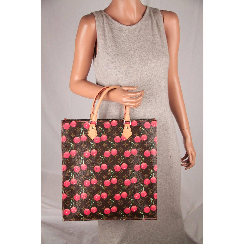 Louis Vuitton Limited Edition Cerises Cherry Sac Plat Gm Bag PcrZA