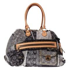 LOUIS VUITTON Limited Edition Denim Monogram Bowly Shoulder bag $4800