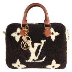 Louis Vuitton Limited Edition Giant Teddy Fleece Speedy Bandoulière 25