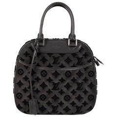 Louis Vuitton Limited Edition Grey Suede Monogram Tuffetage Deauville Bag