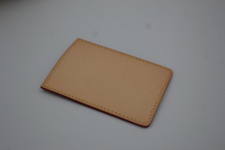 Beige Louis Vuitton Limited Edition Leather Cardholder For Sale
