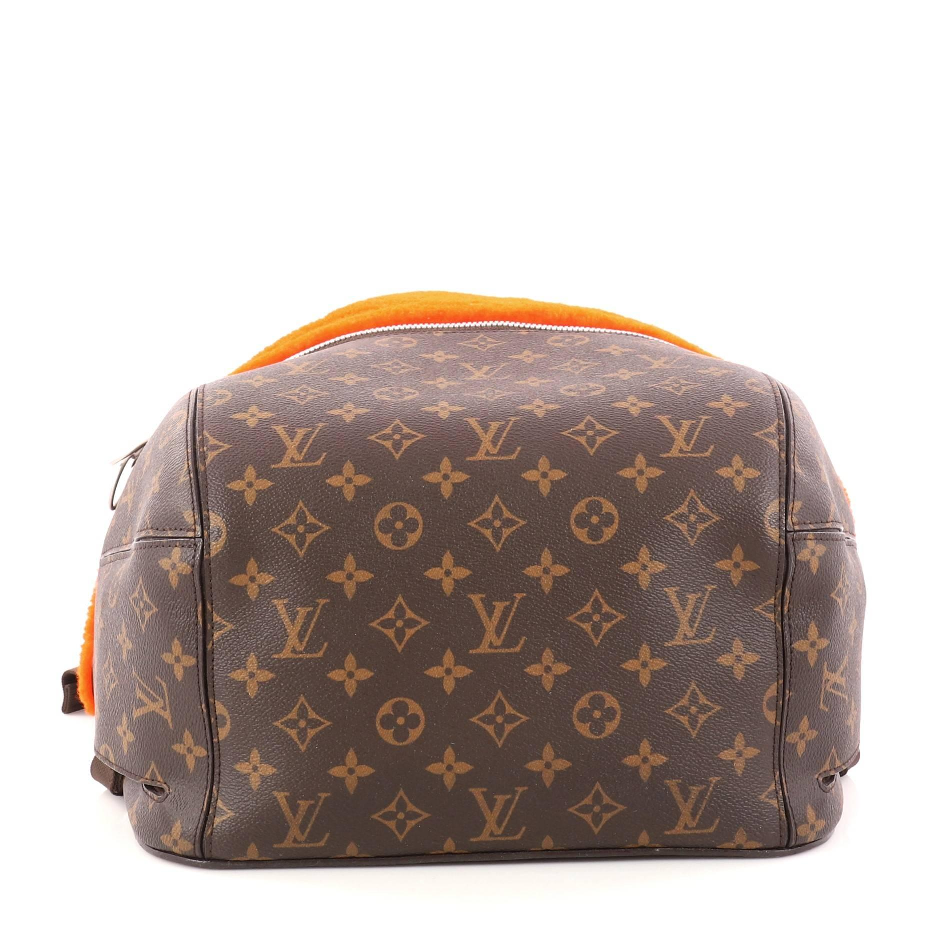 c894b24b0476 Louis Vuitton Limited Edition Marc Newson Backpack Shearling and Monogram  Canvas at 1stdibs