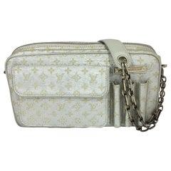 Louis Vuitton Limited Edition McKenna Metallic Canvas Monogram Handbag