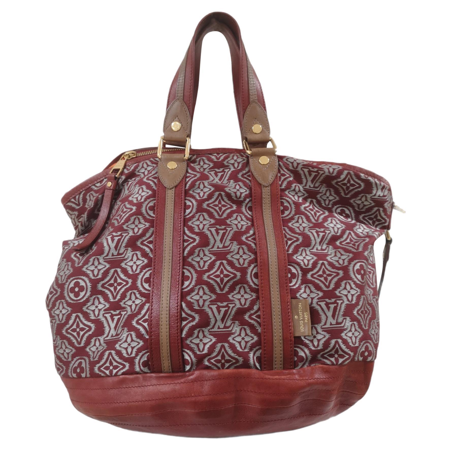 Louis Vuitton Limited edition monogram bordeaux aviator bag