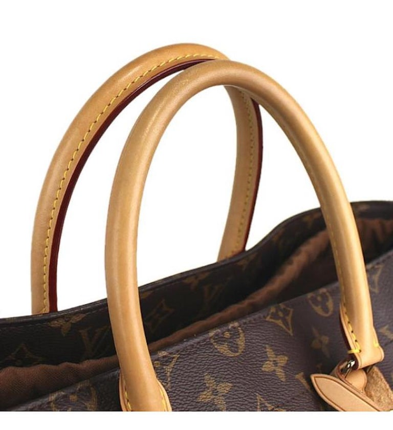 Women's Louis Vuitton Limited Edition Monogram Brown Cut Out Carryall Travel Tote Bag For Sale