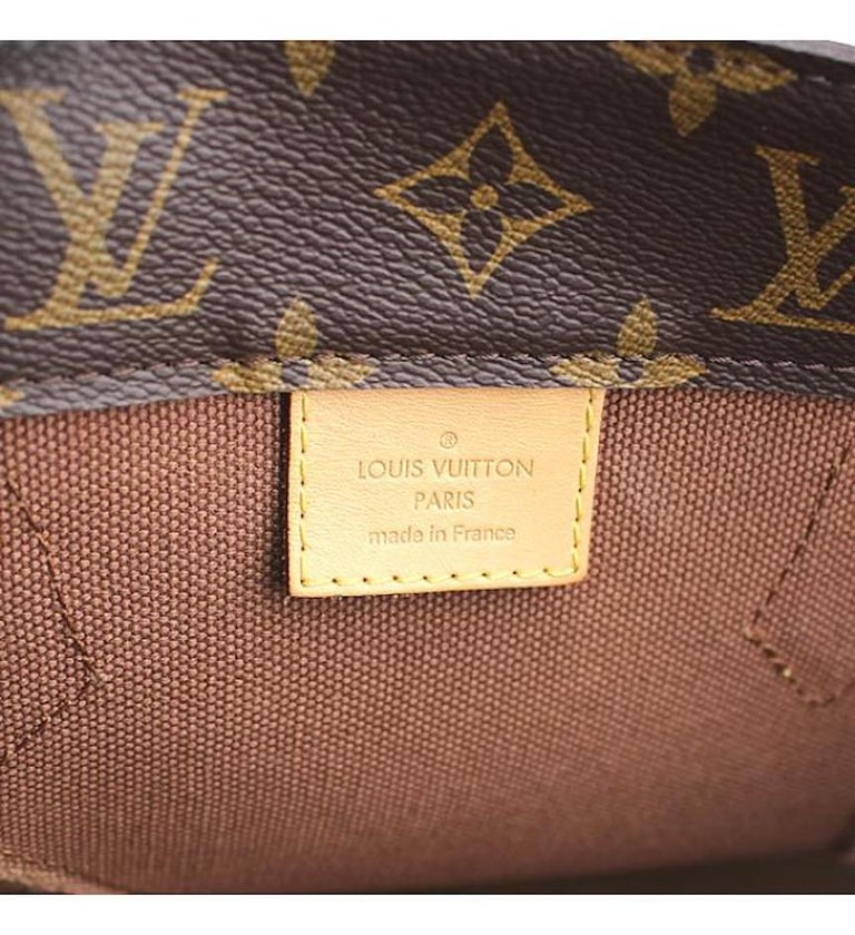 Louis Vuitton Limited Edition Monogram Brown Cut Out Carryall Travel Tote Bag For Sale 4