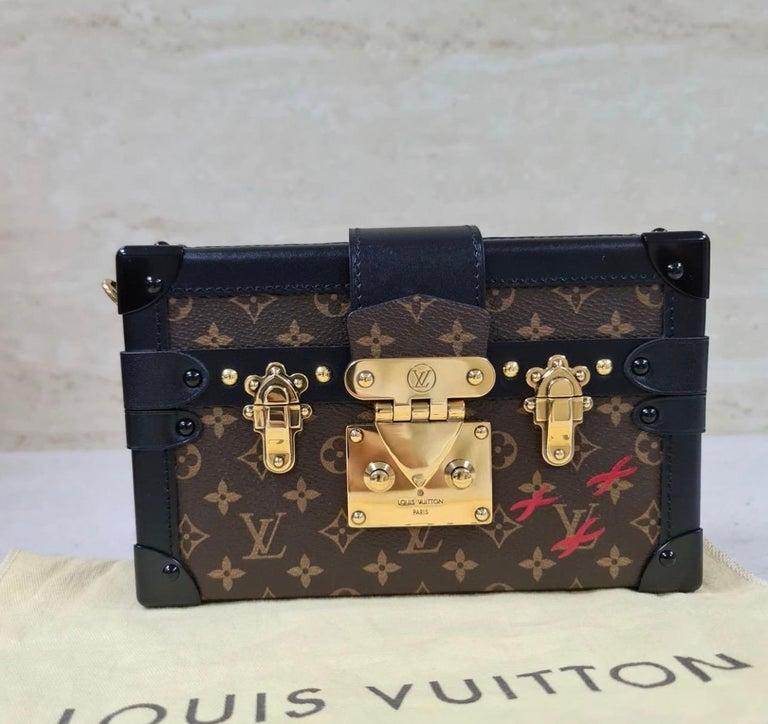 Black LOUIS VUITTON Limited Edition Monogram Canvas Petite Malle Bag For Sale