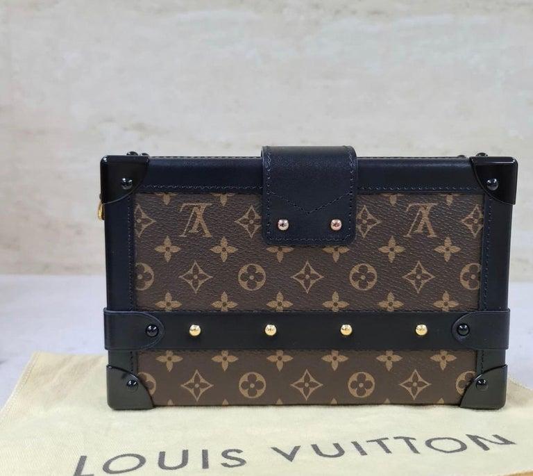 Women's LOUIS VUITTON Limited Edition Monogram Canvas Petite Malle Bag For Sale