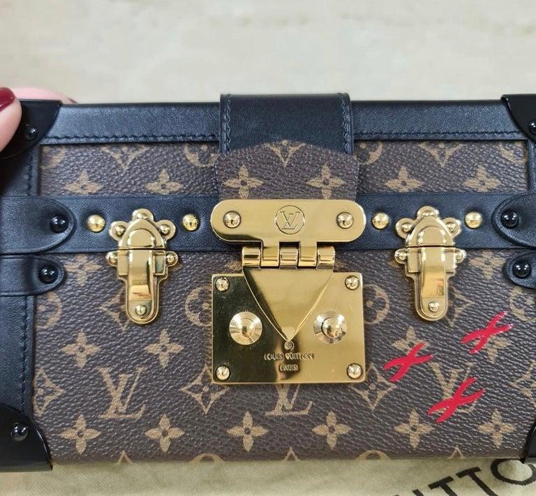 LOUIS VUITTON Limited Edition Monogram Canvas Petite Malle Bag For Sale 2