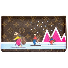 Louis Vuitton Limited Edition Monogram Canvas Skiing Bears WOC Pochette